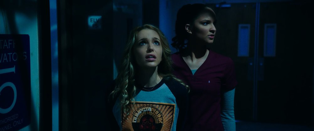 "(from left) Tree (Jessica Rothe) and Lori (Ruby Modine) in ""Happy Death Day 2U,"" written and directed by Christopher Landon."