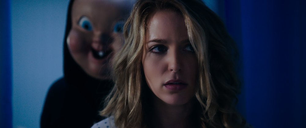 "(from left) ""Babyface"" and Tree (Jessica Rothe) in ""Happy Death Day 2U,"" written and directed by Christopher Landon."