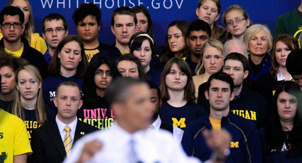Team Obama returns to campuses...