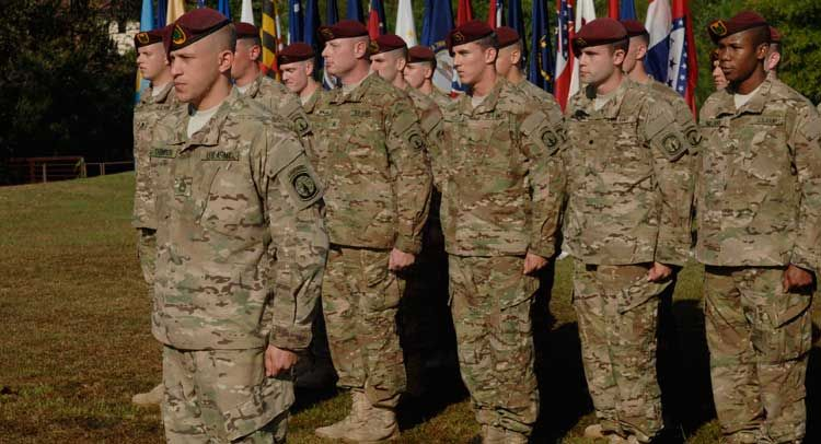 U.S. troops ordered to disarm before speech; 'Somebody got itchy'...