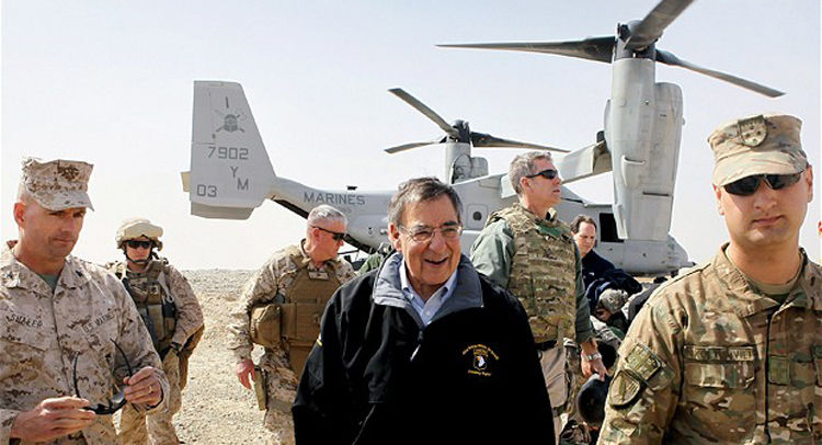 DISTRUST: MARINES DISARMED FOR PANETTA AT CAMP LEATHERNECK...