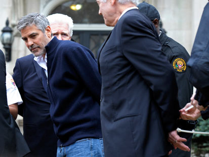 George Clooney is Arrested in DC...