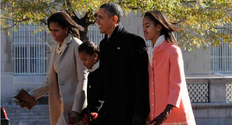 AP: Obama Keeps Dragging Sasha & Malia Into Politics...