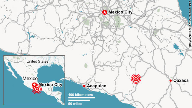 USGS: 7.6-magnitude earthquake strikes in Guerrero region of Mexico...