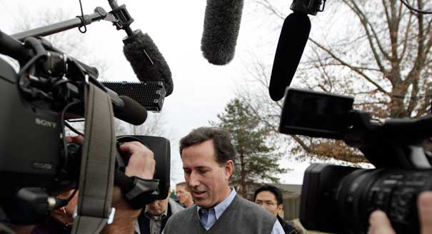 Santorum on Romney vs Obama: 'Stay With What We Have Instead of Taking a Risk'...
