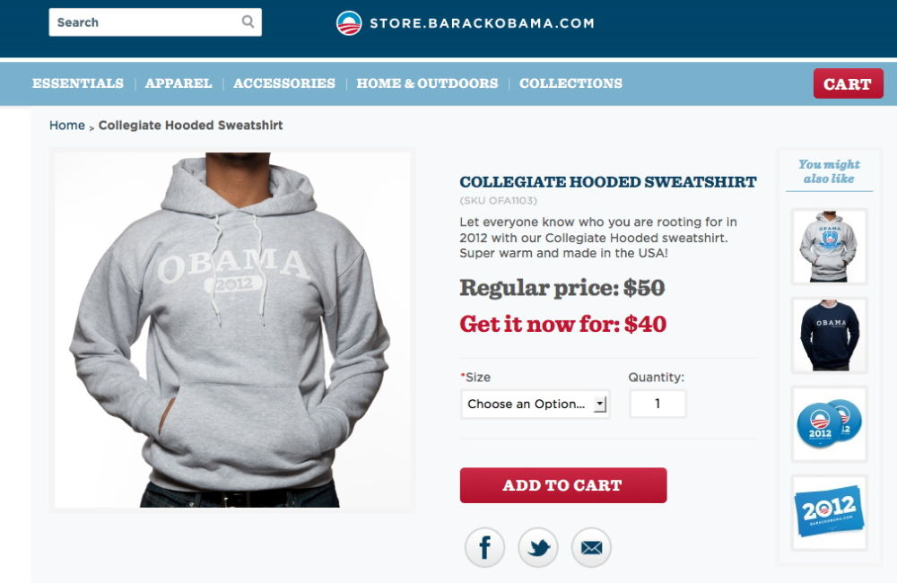 "SURPRISE: Obama Camp Peddles 2012 Hoodies: ""Let everyone know who you are rooting for..."""