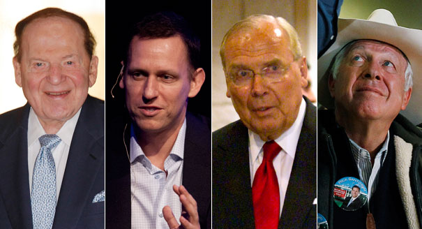 GOP mega-donors slow to switch candidates...