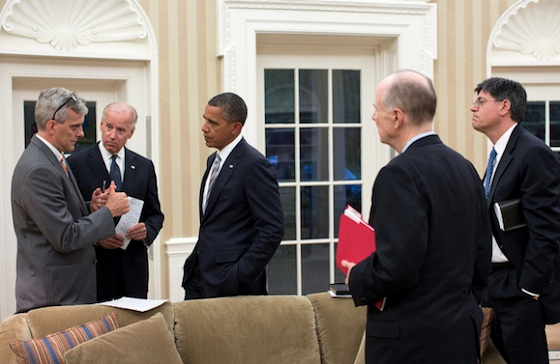 While the photo doesn't provide a lot of information, the picture does seem to confirm that Obama was briefed on the night of the Benghazi attack — and by whom. What was said — well, that's another story.