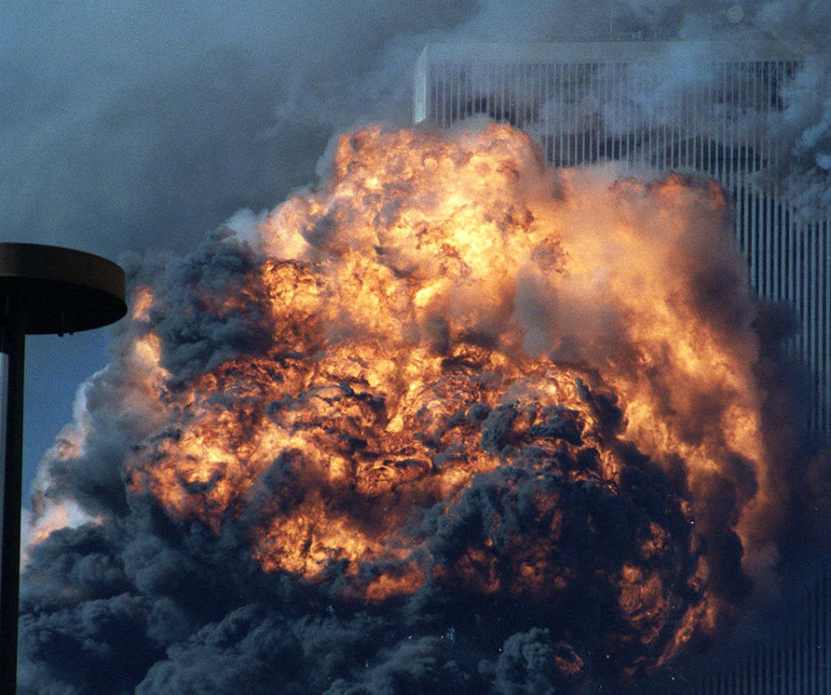 A fireball erupts from the South Tower of the World Trade Center after United Airlines Flight 175 was flown into it on Sept. 11, 2001 by al Qaeda terrorists. (AP Photo/Ernesto Mora) - See more at: http://cnsnews.com/image/world-trade-center-september-11#sthash.NT6eaVeY.dpuf