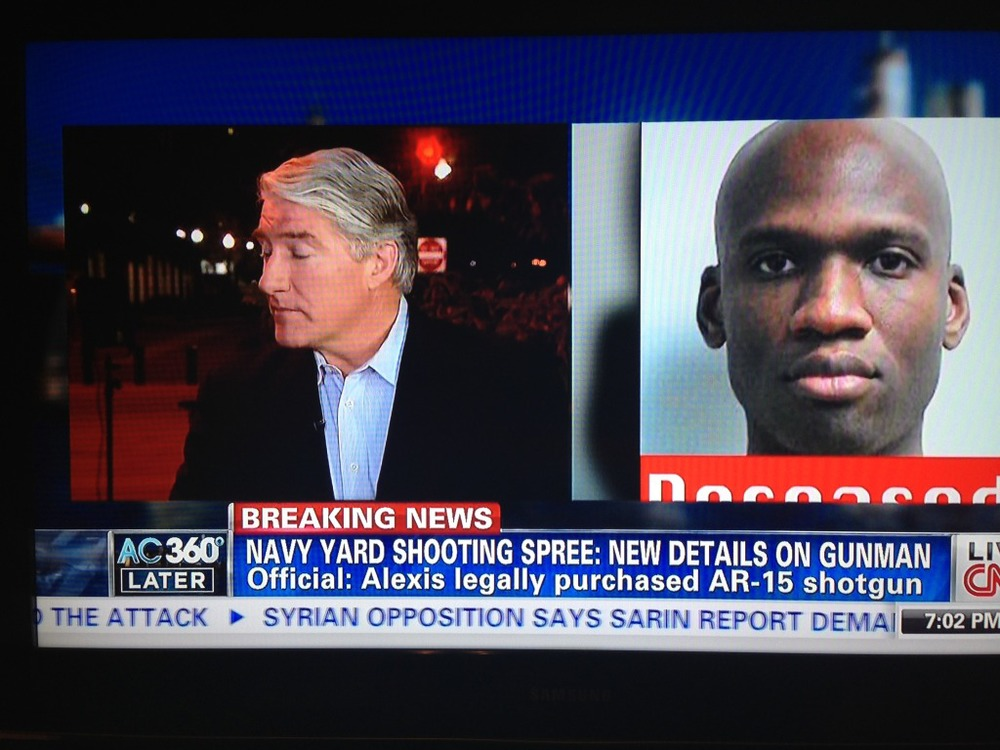 """CNN """"Low Info"""" News: Alexis Had """"Legally Purchased AR-15 Shotgun"""" I just keep scratching my head.Not only was there absolutely no evidence that Aaron Alexis had in fact purchased an AR-15, but, of course, AR-15 isn't a shotgun."""