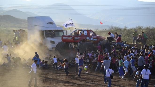 APTOPIX Mexico Monster Truck Accident