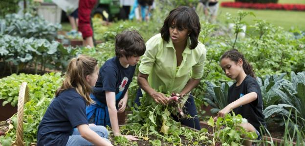 You didn't expect Michelle to pull her own weeds?