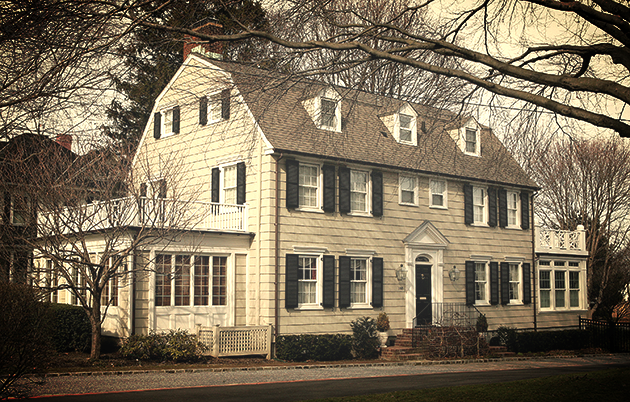 The home in Amityville, New York where six members of a family were murdered in 1974. The house was the inspiration …