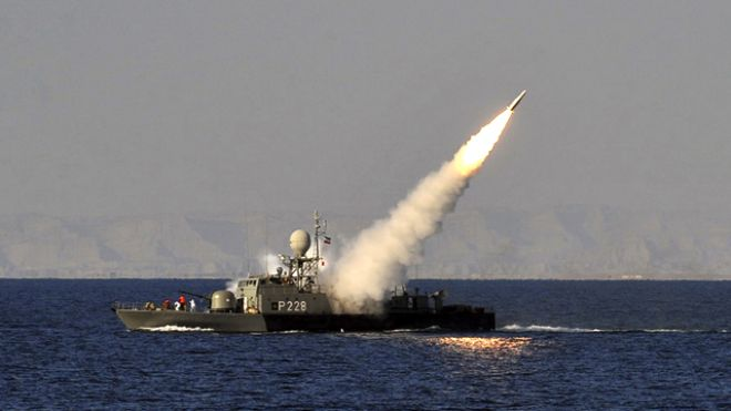 War rhetoric comes as Tehran enters U.S. waters
