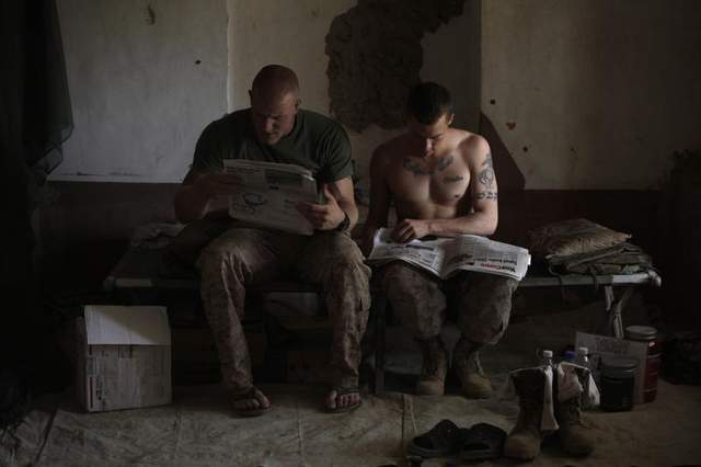 AP Photo /Independent newspaper does not conform to new Marine Corps message, brass says...