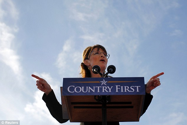 Told ya so: Mrs Palin, pictured here in Ohio in October 2008, wrote Friday that her 'accurate prediction' was derided as 'an extremely far-fetched scenario'