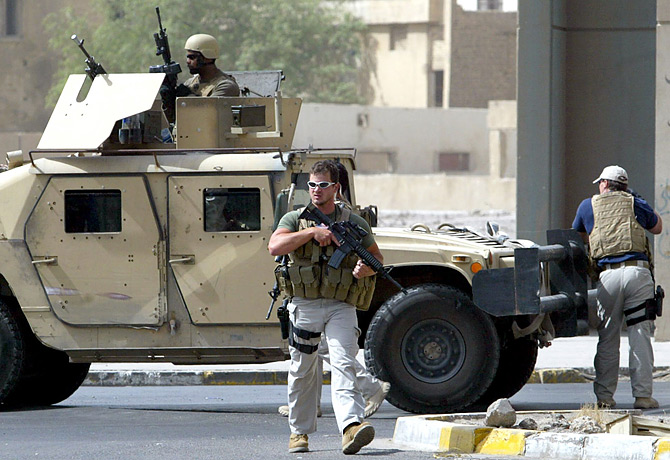 Notorious U.S. mercenaries 'seen on the streets of flashpoint city'