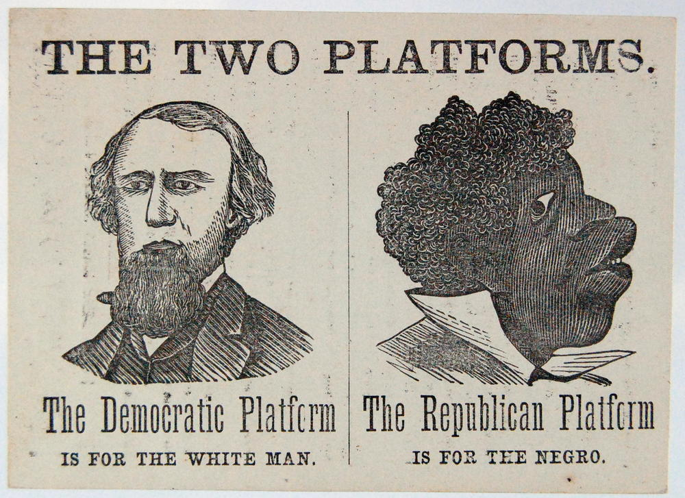 Once upon a time, in the nineteenth century, the Democrats accused the Republicans of being the party that catered to black people. (Library of Congress)