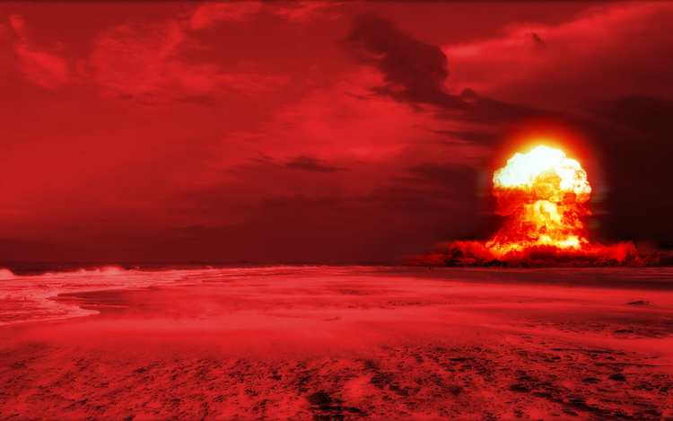 Illustration of nuclear explosion.