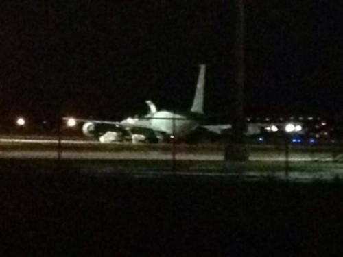The plane carrying Sgt. Bowe Bergdahl arrives in San Antonio, Texas, on June 13. (Photo: Photo: Kens5.com)