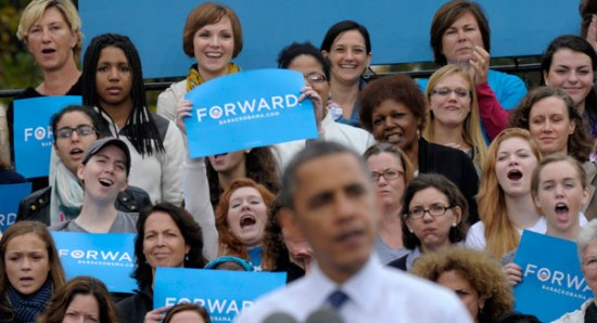 Alternate headline: Obama says women who vote Republican are stupid.   (Weasel Zippers)