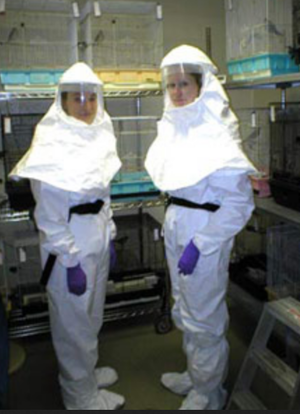Biosafety Level 3 suits