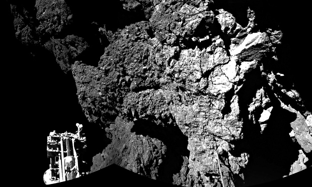 Probe landing attracts allegations that 67P is not a comet but alien object kept secret by Nasa and European Space Agency.