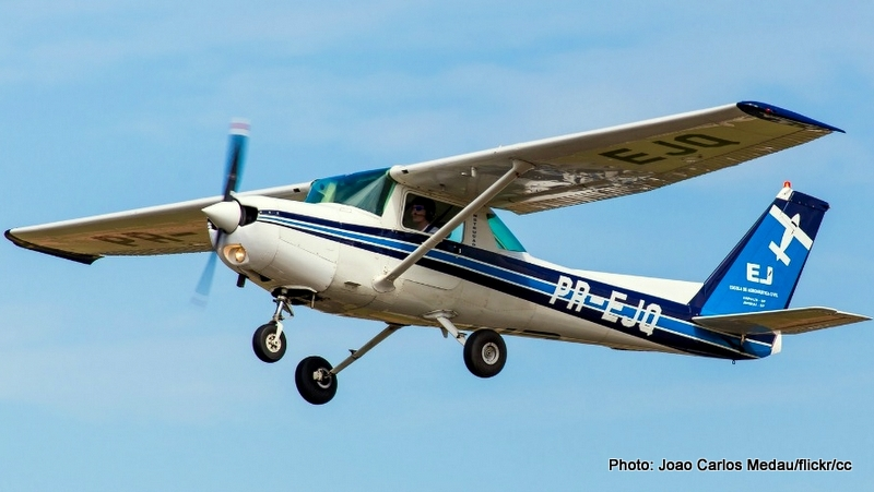 A Cessna airplane like the one being used by the U.S. Marshal Service to trick the cell phones of thousands, or perhaps millions, of Americans to give over their private data.