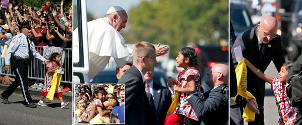 Little girl coached by illegal alien parents to 'ask' Pope to push amnesty
