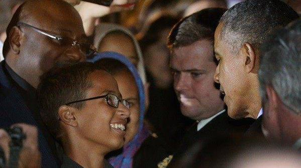 'Ahmed the clock boy' stargazes with Obama