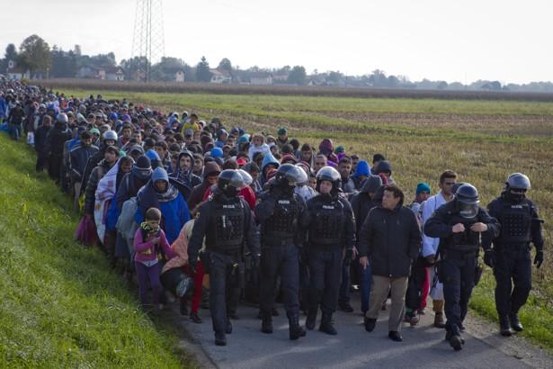 APTOPIX Slovenia Migrants