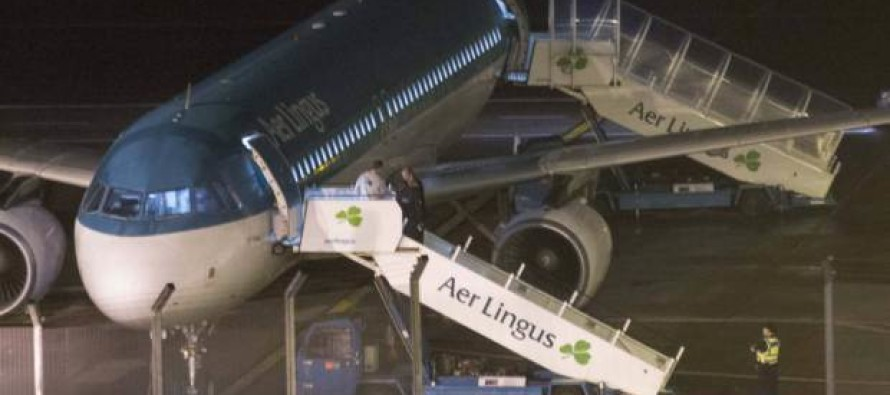 �50 PER IMAGE TO USE. Man dies on Aer Lingus flight 'after biting another passenger and becoming extremely violent'