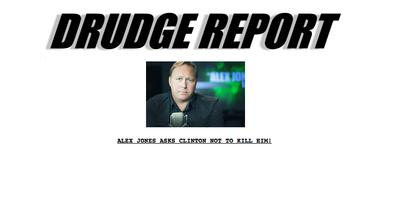 Drudge Report, Infowars expose Clinton trail of death