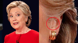 Reuters Photo Appears To Prove Hillary Wore Earpiece For Trump Debate