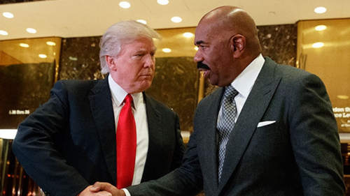 Steve Harvey Meets With President-Elect Trump, Receives Tremendous Backlash From Black Community