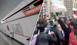 HORROR as migrants 'shout Allahu Akbar and fire replica guns' on train