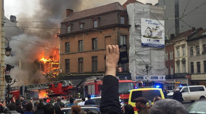 Massive Explosion Rocks Brussels; Huge Fire Underway