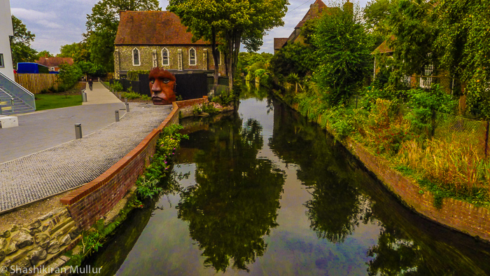 River Stour by the Marlowe Theatre, Canterbury