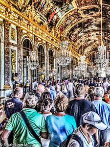 The Hall of Mirrors in the Versailles Palace