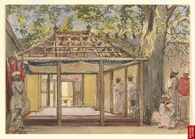 Aurangzeb's tomb, circa 1850 ( Wikipedia )