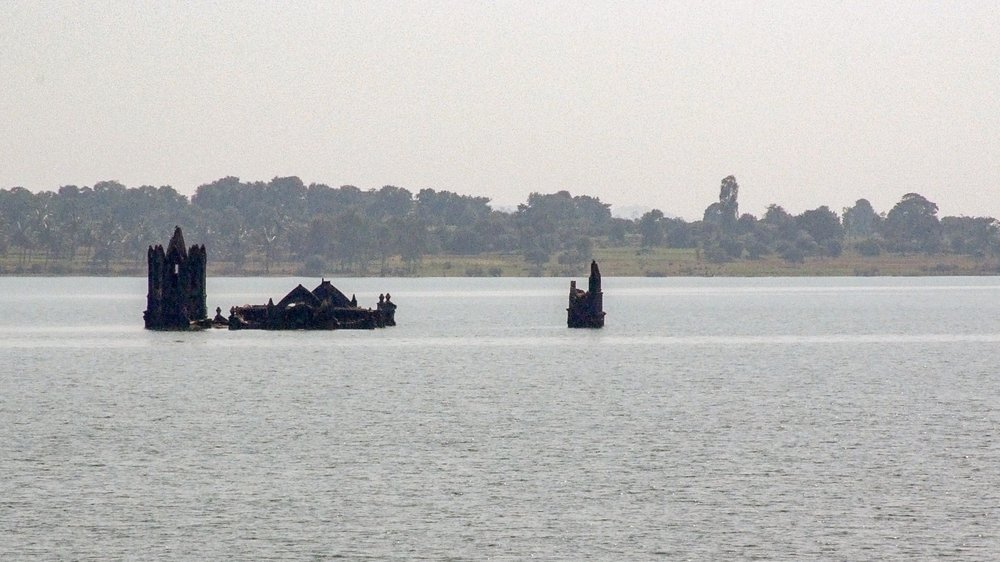 The Magge Church, Drowned in the Backwaters of Gorur Dam
