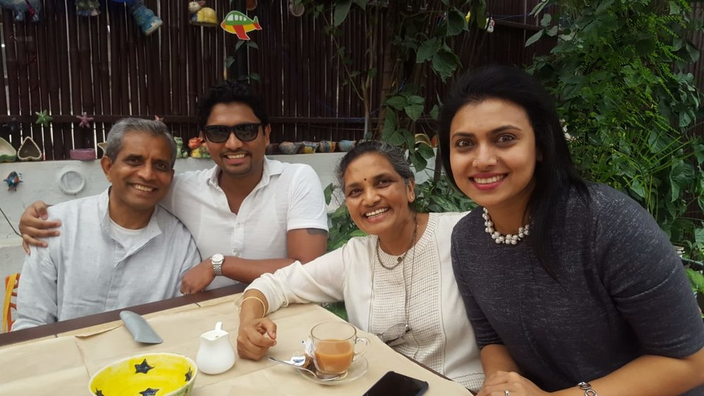 With Sujaya and my son and his wife (Photo: Swapna Venkatesh)