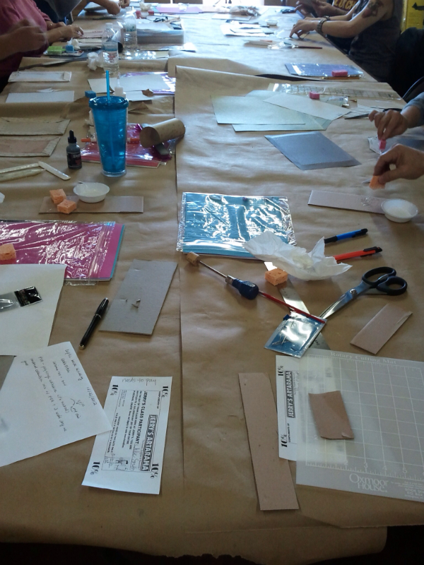 Check out these industrious book-maker's at Saturday's class!