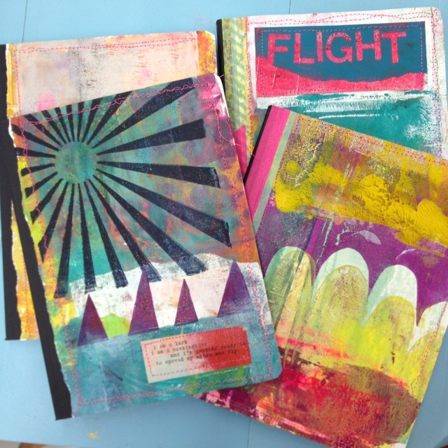 gelli print magic idea notebooks!