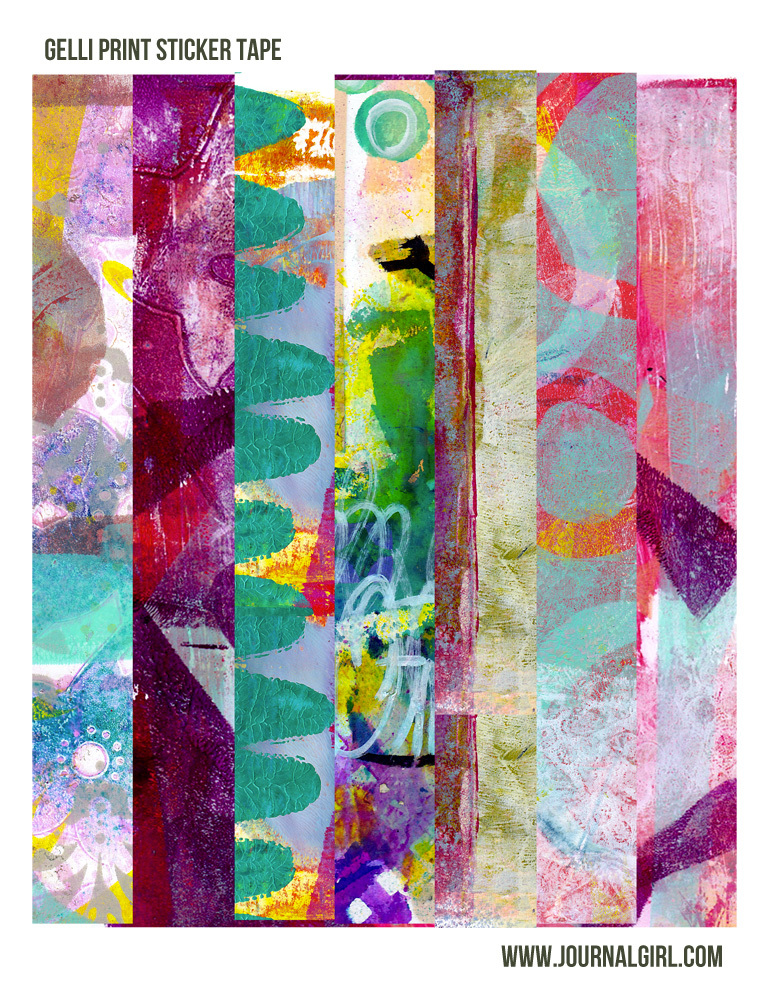 gelli print sticker tape!