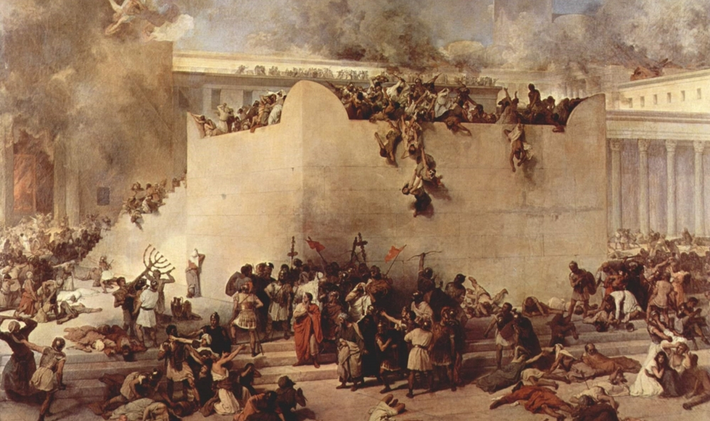 The Destruction of the Temple of Jerusalem - Francesco Hayez - 1867