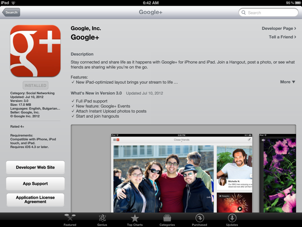 Google+ now available as an iOS Universal App