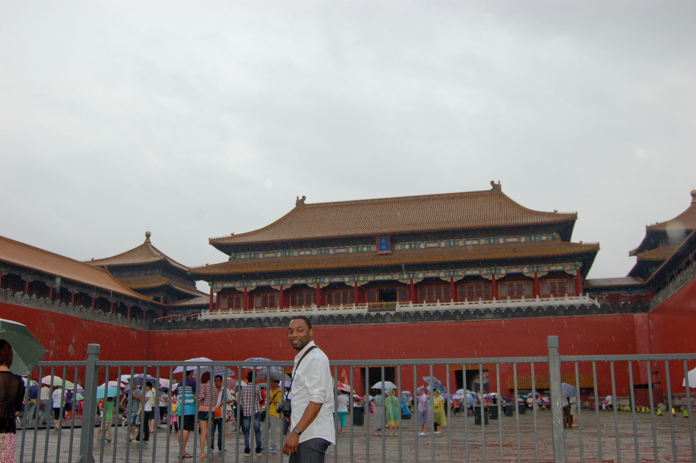 "At the entrance of the ""Forbidden City"""