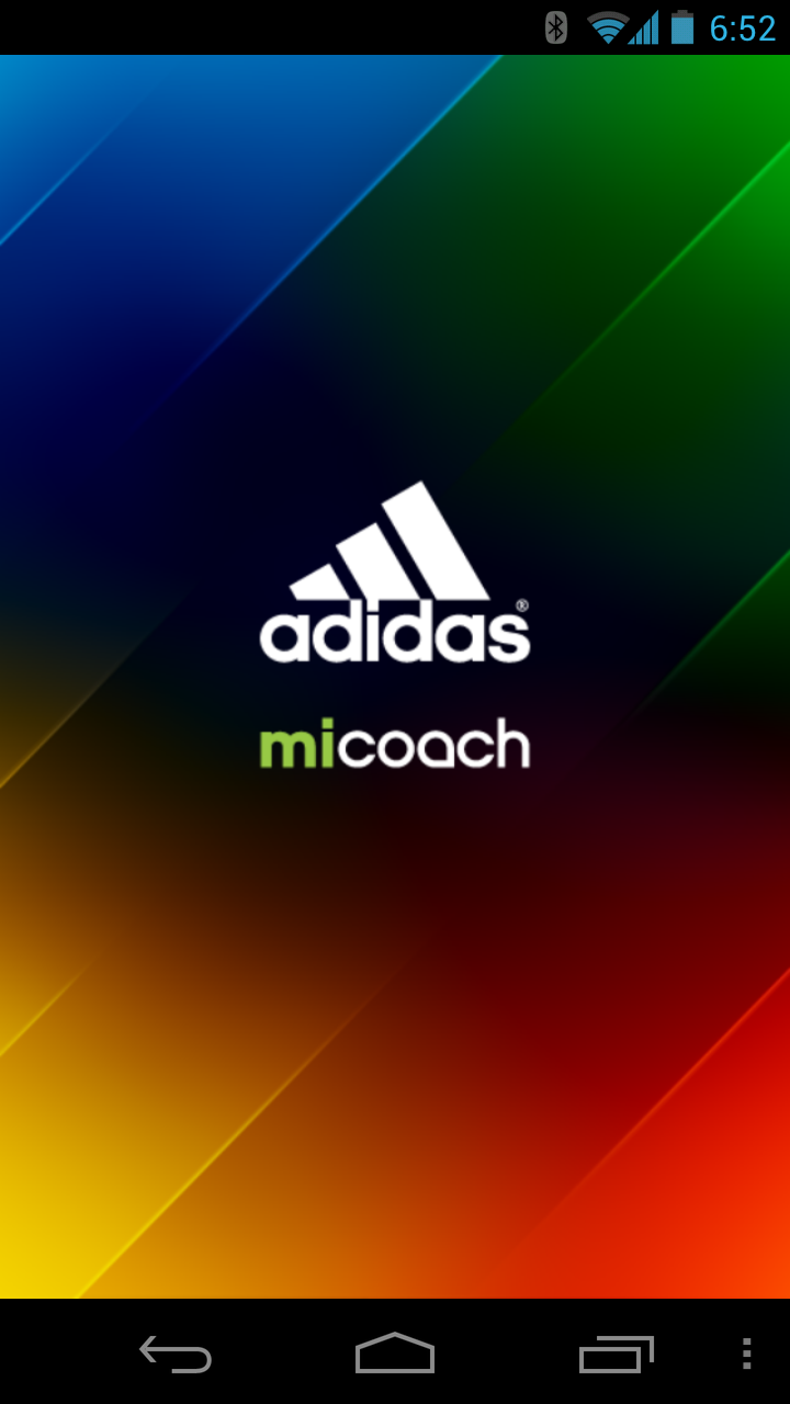 Adidas miCoach Splash Screen