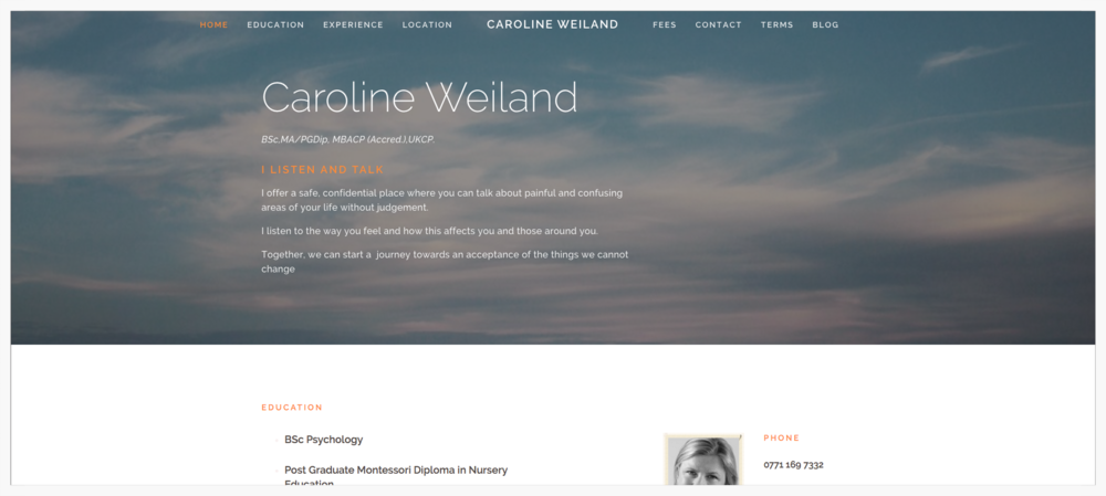 Website Caroline Weiland view project